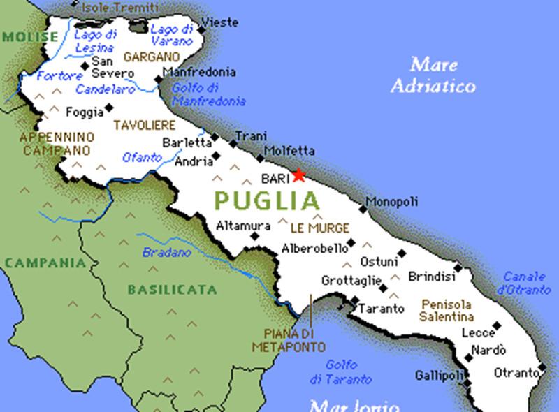 Mapa De Bari Italia.Puglia Vem Pra Puglia